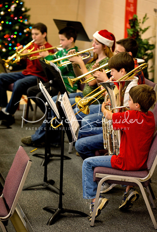 Photography of the winter holiday recital of the Lake Norman Home School Band, held at Mt. Zion United Methodist Church in Cornelius, NC.