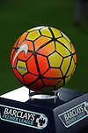 The new Orange and Yellow Nike Ordem 3 Barclays Premier League match ball for the 2015-16 Season<br /> - Barclays Premier League - Bournemouth vs Manchester United - Vitality Stadium - Bournemouth - England - 12th December 2015 - Pic Robin Parker/Sportimage