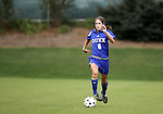 Kelly Hathorn of Duke on Sunday October 2nd, 2005 at SAS Stadium in Cary, North Carolina. The Duke University Blue Devils defeated the North Carolina State University Wolfpack 1-0 during an Atlantic Coast Conference women's soccer game.