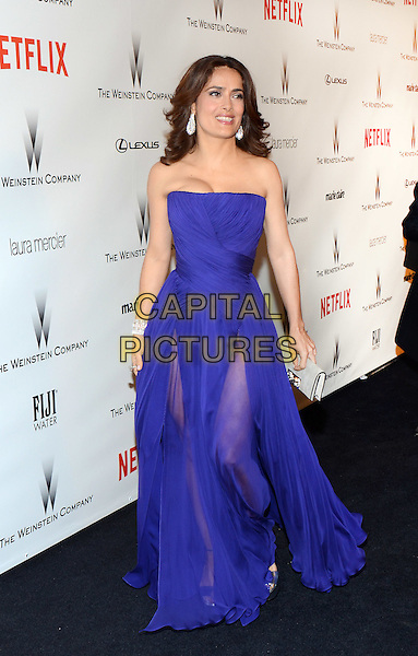 11 January 2015 - Beverly Hills, California - Salma Hayek. The Weinstein Company and Netflix 2015 Golden Globes After Party celebrating the 72nd Annual Golden Globe Awards held at Robinsons May Lot.  <br /> CAP/ADM/TW<br /> &copy;TW/ADM/Capital Pictures