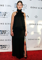 NEW YORK CITY, NY, USA - SEPTEMBER 26: Rosamund Pike arrives at the 52nd New York Film Festival Opening Night Gala Presentation and World Premiere Of 'Gone Girl' held at Alice Tully Hall on September 26, 2014 in New York City, New York, United States. (Photo by Celebrity Monitor)