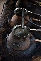 Clay distilation at Felix Garcia´s ranch and distillery in El Potrero, Oaxaca, Oaxaca, Mexico