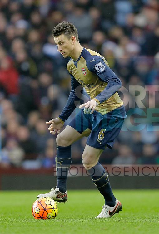 Laurent Koscielny of Arsenal - Football - Barclays Premier League - Aston Villa vs Arsenal - Villa Park Birmingham - 13th December 2015 - Season 2015/2016 - Photo Malcolm Couzens/Sportimage