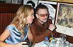 WEST HOLLYWOOD, CA. - February 08: Musicians Sheryl Crow and Bono  attend the Universal Music Group Chairman Doug Morris' Grammy Awards Viewing Dinner at The Palm on February 8, 2009 in West Hollywood, California.
