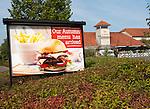 Beefeater restaurant advertising display, Lydiard Fields business park, Swindon, England, UK