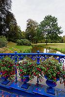 Fuchsienbrücke im Fürst Pückler Park, Bad Muskau, Sachsen, Deutschland, Europa, UNESCO-Weltkulturerbe<br /> Fuchsia-bridge in Fürst Pückler Park, Bad Muskau, Saxony, Germany, Europe, UNESCO-World Heritage