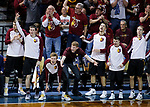 SIOUX FALLS, SD: MARCH 22:  The Northern State bench reacts after a score against Queens (NC) during their game at the 2018 Division II Men's Basketball Championship at the Sanford Pentagon in Sioux Falls, S.D. (Photo by Dick Carlson/Inertia)