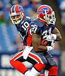 28 August 2008:  Buffalo Bills' quarterback Gibran Hamdan makes a hand-off to running back Dwayne Wright against the Detroit Lions at Ralph Wilson Stadium in Orchard Park, NY. The Lions defeated the Bills 14-6 in their fourth and final pre-season game...Mandatory Photo Credit: Ed Wolfstein Photo