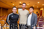 The 3 main speakers at the Kinetic Health and Fitness Seminar in the Rose Hotel on Thursday. L-r, Shay Finn, Michael and Ann Marie Dillon.