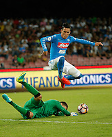 Jose Callejon  during the friendly soccer match,between SSC Napoli and Onc Nice      at  the San  Paolo   stadium in Naples  Italy , August 02, 2016<br />  during the friendly soccer match,between SSC Napoli and Onc Nice      at  the San  Paolo   stadium in Naples  Italy , August 02, 2016