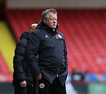 Chris Wilder manager of Sheffield Utd during the Emirates FA Cup Round One match at Bramall Lane Stadium, Sheffield. Picture date: November 6th, 2016. Pic Simon Bellis/Sportimage
