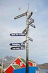 Signpost Tasiilaq Greenland