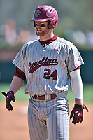 South Carolina Gamecocks left fielder Alex Destino (24) during a game against the Tennessee Volunteers at Lindsey Nelson Stadium on March 18, 2017 in Knoxville, Tennessee. The Gamecocks defeated Volunteers 6-5. (Tony Farlow/Four Seam Images)