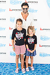 """Oscar Higares with his sons attends to the morning premiere of the film """"Buscando a Dory"""" at Cines Kinepolis in Madrid. June 19. 2016. (ALTERPHOTOS/Borja B.Hojas)"""