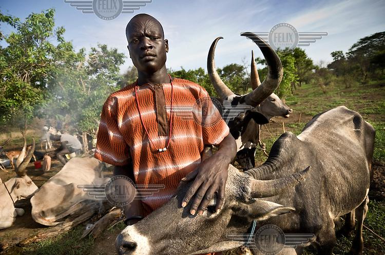 A cattle camp near Tali. Central Equatoria, South Sudan.