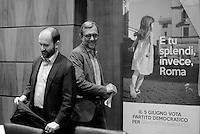 Roma, 24 Maggio 2016.<br /> Camera di commercio di Roma,<br /> Sblocca Roma, presentato dal commissario del PD Matteo Orfini, dal candidato Pd Roberto Giachetti