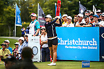 Lydia Ko of New Zealand during the ISPS Handa NZ Woman's Open Round Two. Clearwater Golf Course, Christchurch, New Zealand, Saturday 13 February 2016. Photo: Simon Watts / BWmedia for NZ Golf<br /> All images &copy; NZ Golf and BWMedia.co.nz