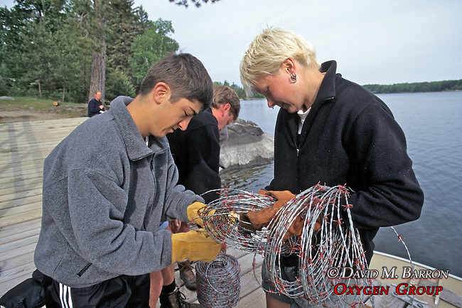 Thomas LeNoble & Cyndy O'Sell Preparing Wire For Hair Snairs