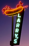 Larry's Chili Dog sign, Burbank, CA circa 1989