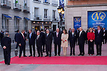 "02.10.2012. King Juan Carlos I of Spain attends the delivery of the ""New Economy Forum Awards 2011 and 2012"" to the Portuguese Republic and the Italian Republic, in the person of its Presidents, Anibal Cavaco Silva and Giorgio Napolitano respectively, at the Teatro de la Zarzuela in Madrid, Spain.  (Alterphotos/Marta Gonzalez)"
