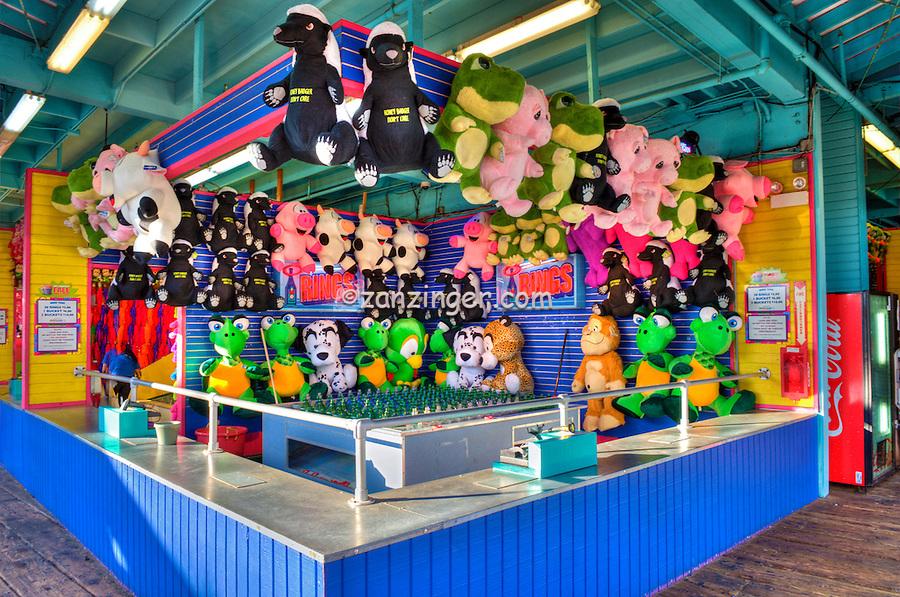 Santa Monica CA Pier Amusement Game, Ring Toss