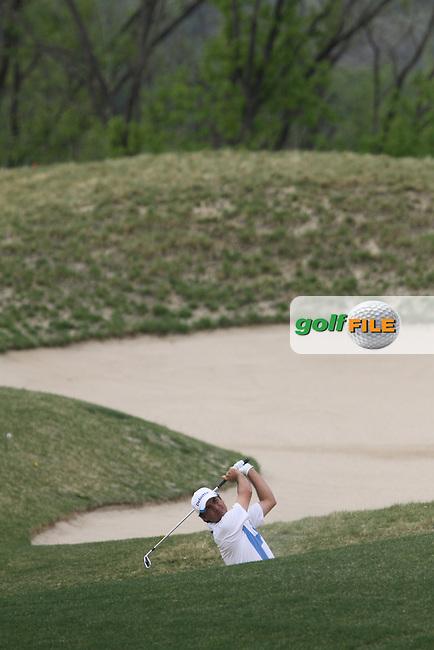Felipe Aguilar (CHI) on the 18th on Day 4 of the Ballantines Championship 2012 at Blackstone Golf Course, Icheon, Korea...(Photo Jenny Matthews/www.golffile.ie)