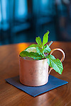 Artisan Restaurant in Paso Robles, CA. The Moscow Mule cocktail at the bar at Artisan.