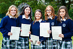 Kate Mulgrew, Orla Goodwin, Amy O'Regan, Niamh Hurley and Kelly Flannery, students from Presentation Secondary School, Tralee, who attended their graduation Mass in St. John's Church, Tralee, on Friday evening last.
