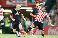 Athletic de Bilbao's Benat Etxebarria (r) and FC Barcelona's Leo Messi during La Liga match. August 28,2016. (ALTERPHOTOS/Acero) /NORTEPHOTO