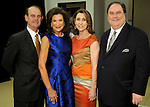 From left: John and Betty Hrncir with Mary Matel and John Onstott at the VIP Reception for the Celebration of Reading event at the Hobby Center Thursday  April 21,2016(Dave Rossman Photo)