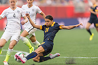 WINNIPEG, MANITOBA, CANADA - June 8, 2015: The Woman's World Cup USA vs Australia match at the Winnipeg Stadium . Final score, USA 3, Australia 1.