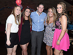 Wayne Floody celebrating his 21st birthday in McHugh's with friends Niamh Shortt, Emma O'Brien, Christine Doyle and Shauna Branigan. Photo:Colin Bell/pressphotos.ie