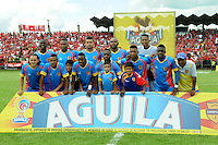 CALI -COLOMBIA-20-11-2016. Universitario de Popayán posa para una foto previo al encuentro con América Cali por la fecha 5 de los cuadrangulares finales del Torneo Águila 2016 jugado en el estadio Ciro Lopez de Popayán./ Players of Universitario de Popayan pose to a photo prior the match against America de Cali for the date 5 of final quadrangulars match of the Aguila Tournament 2016 played at Ciro Lopez stadium in Popayan. Photo: VizzorImage/NR/Cont