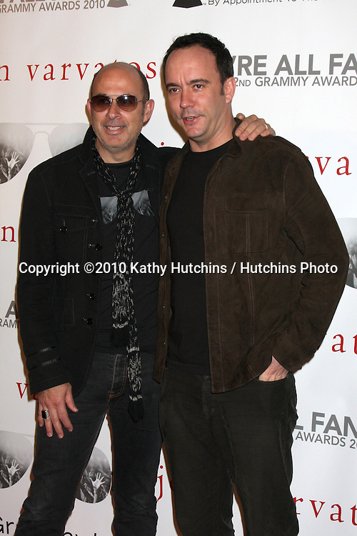 """John Varvatos & Dave Matthews.arriving at the """"We're All Fans"""" Event..John Varvatos Store.Los Angeles, CA.January 28, 2010.©2010 Kathy Hutchins / Hutchins Photo...."""