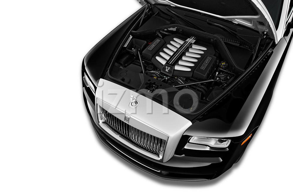 Car stock 2016 Rollsroyce ghostsd1ra Base 4 Door Sedan engine high angle detail view