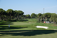 A general view of the 18th hole during the first round of the Turkish Airlines Open, Montgomerie Maxx Royal Golf Club, Belek, Turkey. 07/11/2019<br /> Picture: Golffile | Phil INGLIS<br /> <br /> <br /> All photo usage must carry mandatory copyright credit (© Golffile | Phil INGLIS)