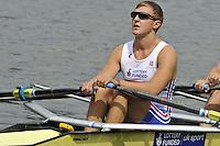 Amsterdam, NETHERLANDSS, GBR M4X.  John COLLINS.  2011 FISA U23 World Rowing Championships, {dow}, {date} [Mandatory credit:  Intersport Images].