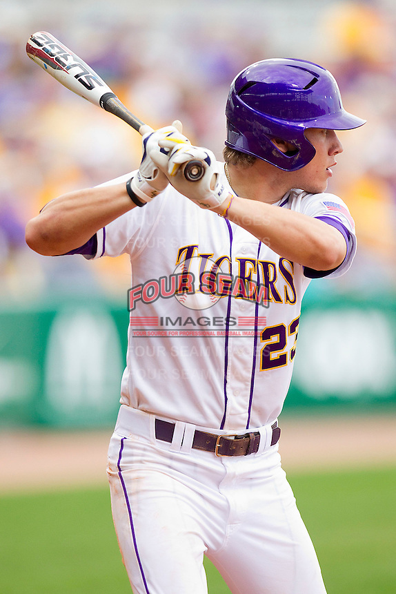 at Alex Box Stadium on February 19, 2011 in Baton Rouge, Louisiana.  The Tigers defeated the Demon Deacons 4-3.  Photo by Brian Westerholt / Four Seam Images