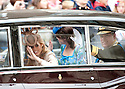 Royal Wedding 29.4.11.Princess Beatrice wore a hat that was too hight for her car...Picture by Gavin Rodgers/ Pixel 8000 ..07917221968