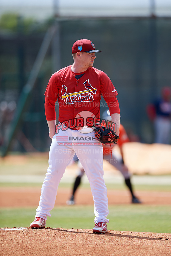 St. Louis Cardinals pitcher Mike O'Reilly (11) during a Minor League Spring Training game against the Miami Marlins on March 26, 2018 at the Roger Dean Stadium Complex in Jupiter, Florida.  (Mike Janes/Four Seam Images)