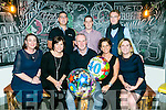 Declan Dwyer, Ballyard Tralee celebrating his 40th birthday with friends at  Ilferno on Saturday Pictured Front l-r Deirdre O'Regan, Niamh O'Connell, Declan Dwyer, Sinead Dwyer, Jennifer Osborne, Back l-r Maurice O'Connell, Cillian O'Regan and Edmond Slattery