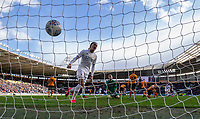 Leeds United's Helder Costa celebrates after Tyler Roberts scored his side's third goal<br /> <br /> Photographer Alex Dodd/CameraSport<br /> <br /> The EFL Sky Bet Championship - Hull City v Leeds United - Saturday 29th February 2020 - KCOM Stadium - Hull<br /> <br /> World Copyright © 2020 CameraSport. All rights reserved. 43 Linden Ave. Countesthorpe. Leicester. England. LE8 5PG - Tel: +44 (0) 116 277 4147 - admin@camerasport.com - www.camerasport.com