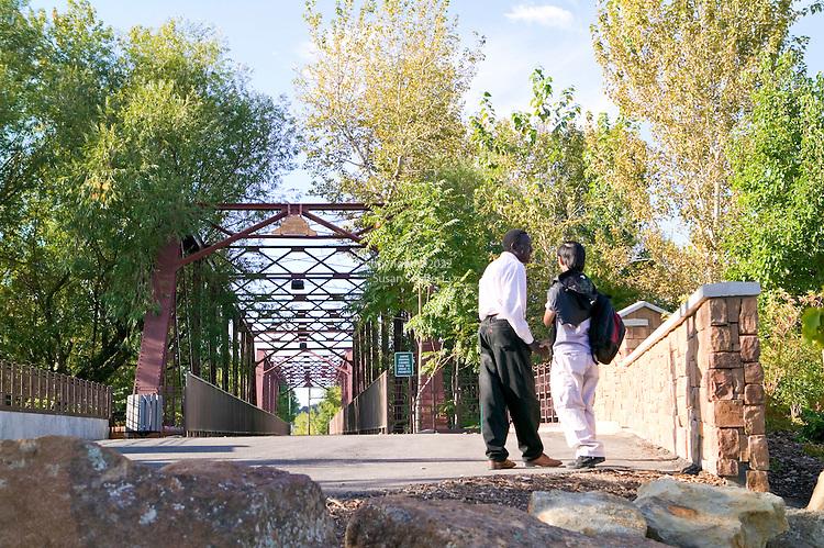 The 1911 Trestle bridge, a historic landmark in downtown Boise, Idaho