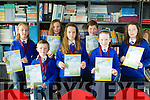 Scriobh Leabhar annual awards for Kerry schools at The Education Centre, Drumtacker on Monday. Pictured Front l-r  Thomas O'Braoin, Mairead Ni Hickey, Clodagh Ni Comara, Hazel Parker, Niamh Quinn, Caitlyn Quinn and Eoin O'Gofin from St Teresa's NS, Kilflynn