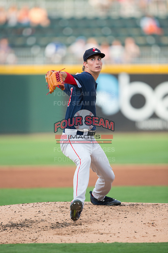 Pawtucket Red Sox starting pitcher Henry Owens (33) in action against the Charlotte Knights at BB&T BallPark on July 6, 2016 in Charlotte, North Carolina.  The Knights defeated the Red Sox 8-6.  (Brian Westerholt/Four Seam Images)
