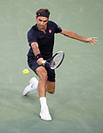 Roger Federer (SUI) defeated Peter Gojowczyk 6-4, 6-4,