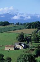 Europe/France/Aquitaine/64/Pyrénées-Atlantiques/Env. de Saint-Faust: Ferme et pic d'Annie