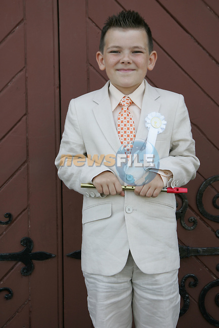 Richard Clinton from Callystown NS who made his first communion at Clogherhead church on Saturday.