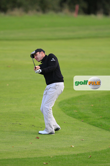 Colm Moriarty (Glassen Hotel &amp; G.C) on the 8th during Round 2 of The Cassidy Golf 103rd Irish PGA Championship in Roganstown Golf Club on Friday 11th October 2013.<br /> Picture:  Thos Caffrey / www.golffile.ie