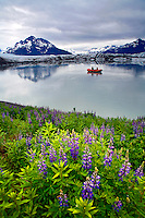Rafting, Sheridan Glacier, Cordova, Chugach National Forest, Alaska.